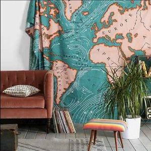 Urban Outfitters Map Tapestry